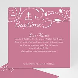 Faire-part baptême fille Bénédictine