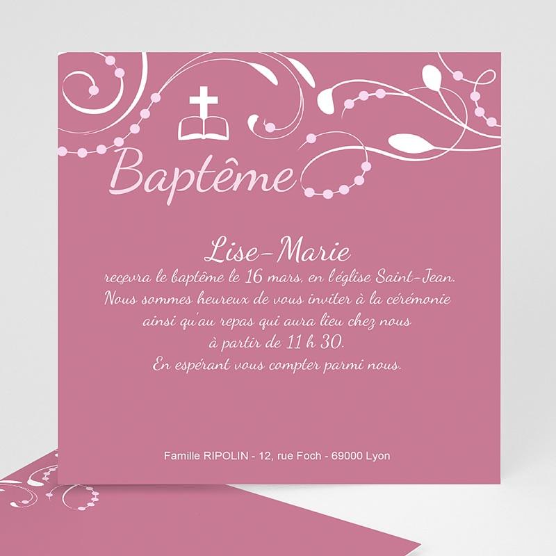 Favori Faire Part Baptême Fille Original | Carteland.com WG83