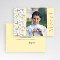 Carte Remerciement Communion Garçon Joie colorée pas cher