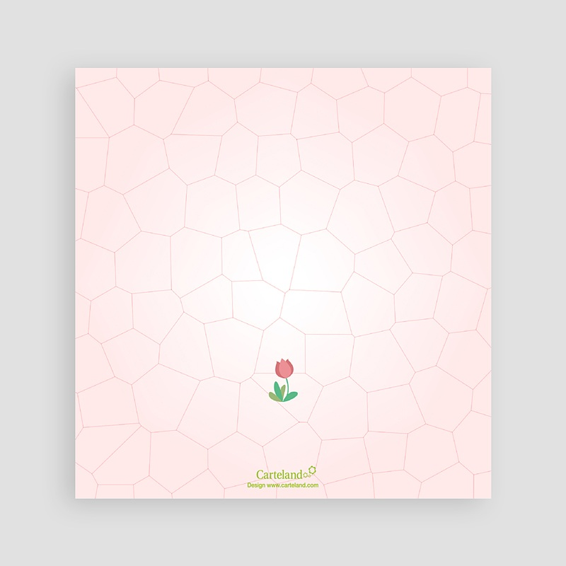 Carte invitation anniversaire fille Tulipe dans le jardin pas cher