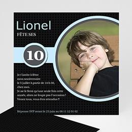 Carte invitation anniversaire garçon 10 ans