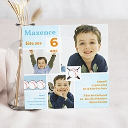 Invitations Anniversaire enfant Baseball