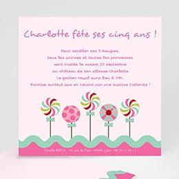 Invitations Anniversaire enfant Sucre d'orge