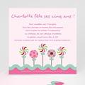 Carte invitation anniversaire fille Sucre d'orge