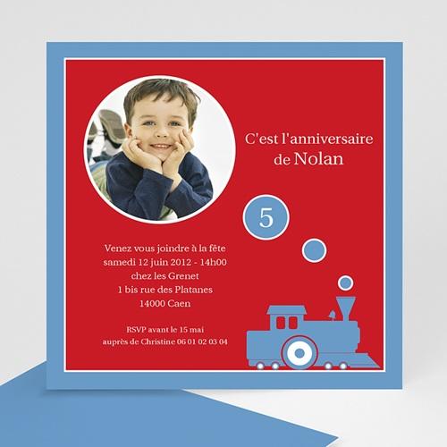 Carte invitation anniversaire garçon Petit train