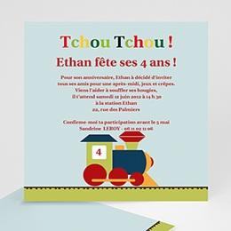 Invitations Anniversaire enfant Tchou ! Tchou !