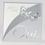 Faire-Part Mariage Traditionnel - Papillons d'argent 15302 thumb