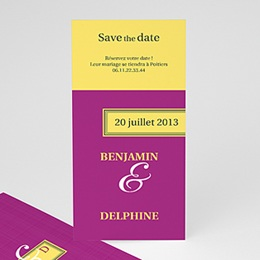 Save the date Jaune d'envie