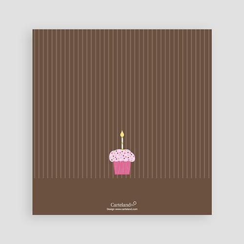 Invitations Anniversaire Garçon - Cupcakes à la fraise 1539 preview