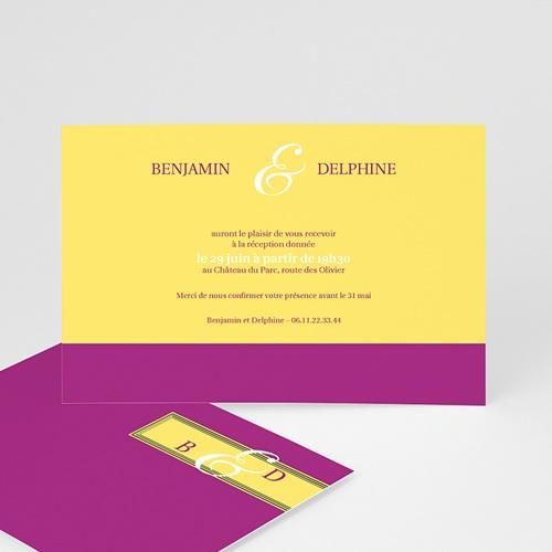 Carton Invitation Personnalisé Mauve d'envie