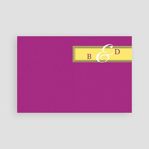 Carton Invitation Personnalisé Mauve d'envie pas cher