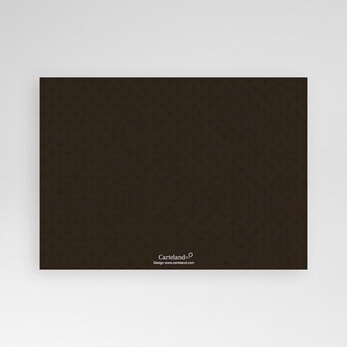Carte Invitation Confirmation Trois Feuilles Bleues pas cher