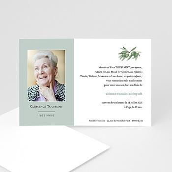 Acheter carte remerciement décès universel olivae