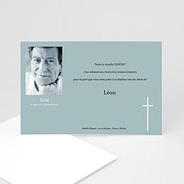 Carte remerciement décès chrétien Plénitude du Coeur