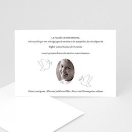 Remerciements Décès Universel - Sérénité éternelle - 1