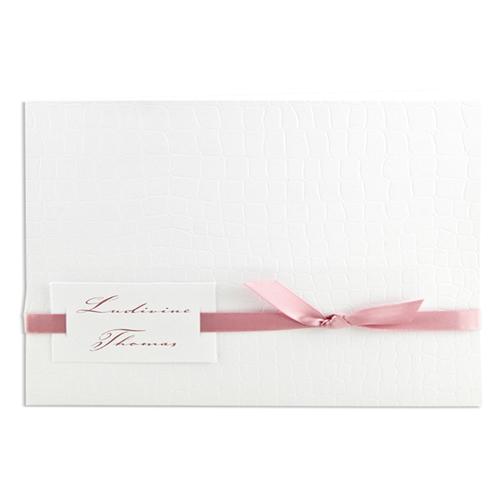 Archive - blanc style croco, lien rose 15591