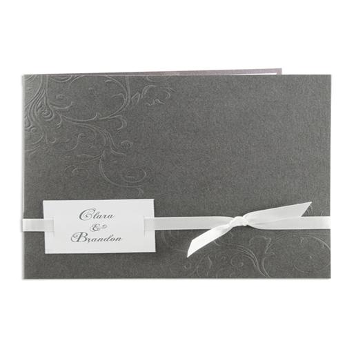 Archive - Gris, ruban blanc 15608