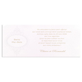 Carte de lunch blanche arabesque rond - 2