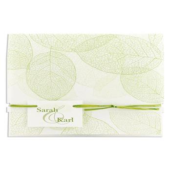 Archive - Feuilles vertes papier fibreux - 3