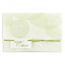 Feuilles vertes papier fibreux - 3