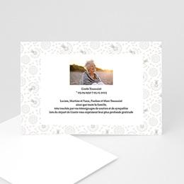 Carte remerciement décès universel Condoléances - Dandelion gris