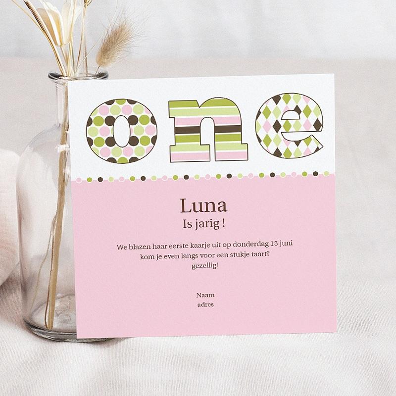Invitation Anniversaire Fille - Délice rose vert 1582 thumb