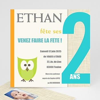 Carte invitation anniversaire garçon Hou ! Hou !