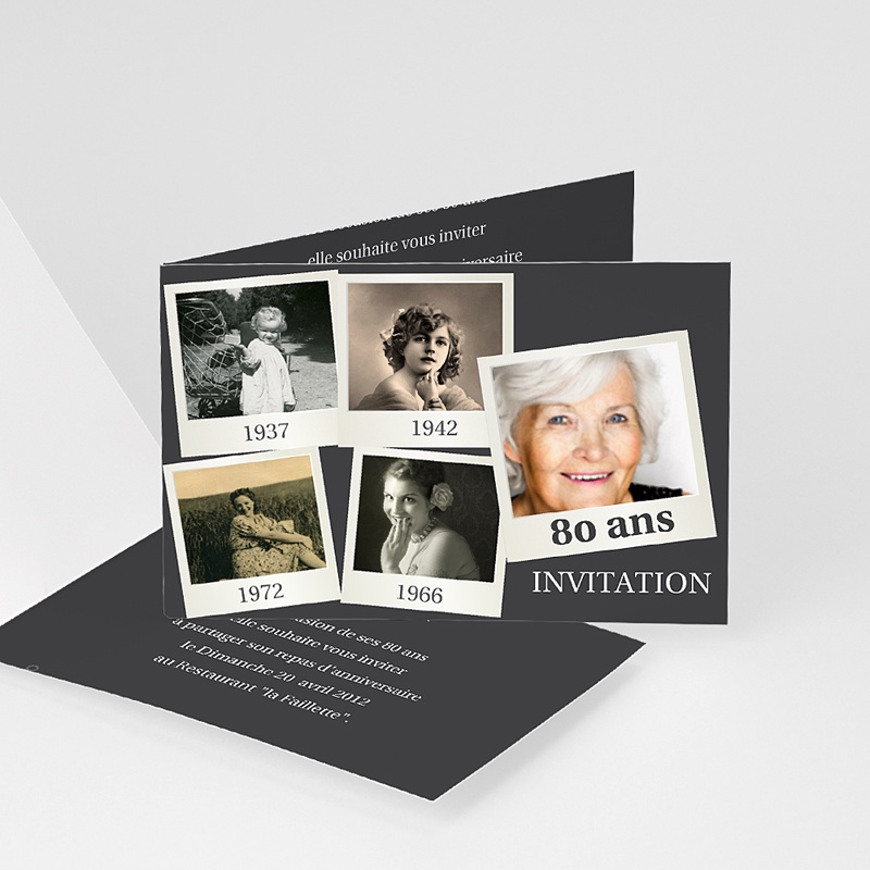 Carte Invitation Anniversaire Adulte Retrospective