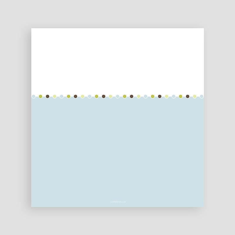 Carte invitation anniversaire garçon Délice bleu-vert pas cher