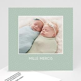 Carte remerciement naissance fille Dans l'herbe
