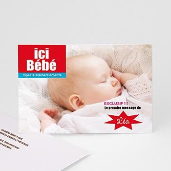 Remerciements Naissance Fille - Ici Bébé - 1