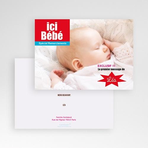 Remerciements Naissance Fille - Ici Bébé 16026 thumb