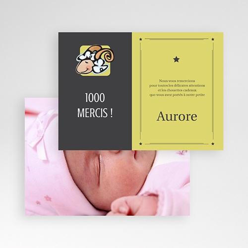 Remerciements Naissance Fille - Bélier 16033 thumb