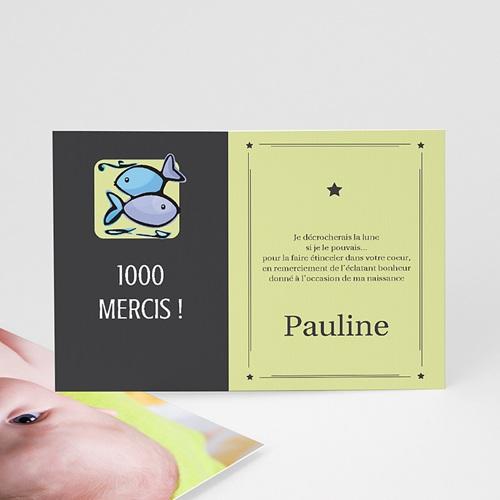 Remerciements Naissance Fille - Poissons 16044