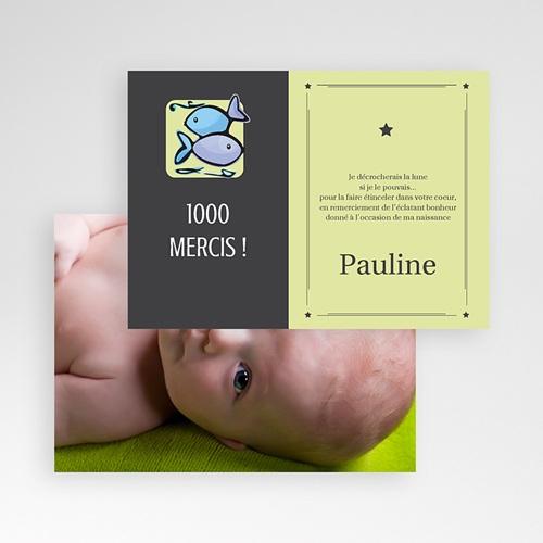 Remerciements Naissance Fille - Poissons 16045 preview