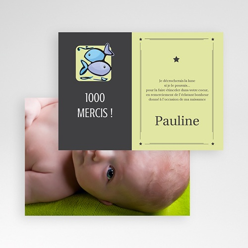 Remerciements Naissance Fille - Poissons 16045 thumb