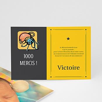 Remerciements Naissance Fille - Verseau - 1