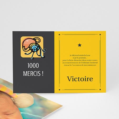 Remerciements Naissance Fille - Verseau 16050