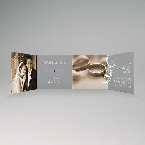 Invitations Anniversaire Mariage - Argentissime 16059 thumb