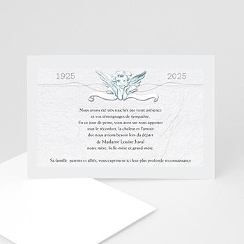 Carte remerciement décès universel un ange passe personnalisable