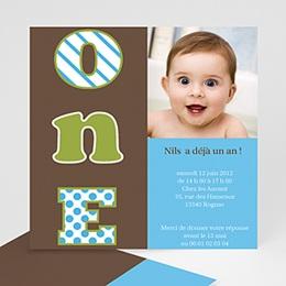 Invitations Anniversaire enfant Numéro UN