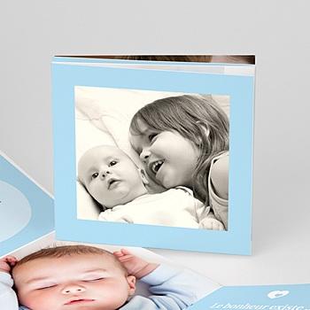 Faire part de naissance garçon ma naissance - bleu frère & soeur