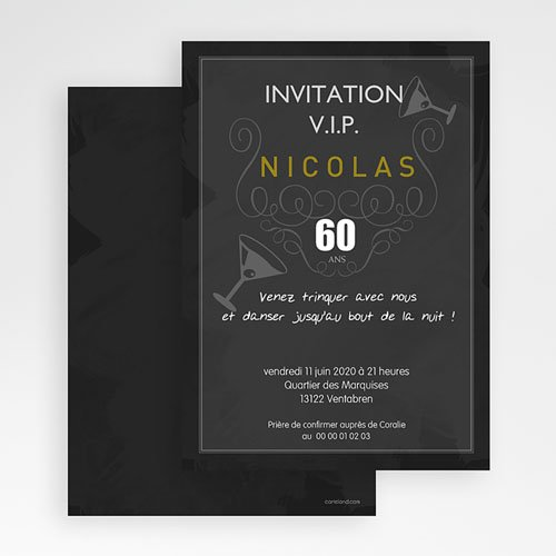 Invitation Anniversaire Adulte - Douce sophistication 16333 thumb