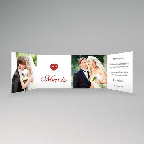 Remerciements Mariage Personnalisés  Coeurs rouges -1000 Mercis pas cher
