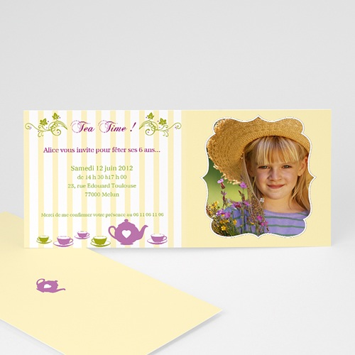 Invitations Anniversaire Garçon - Brunch ou Tea Party 1634