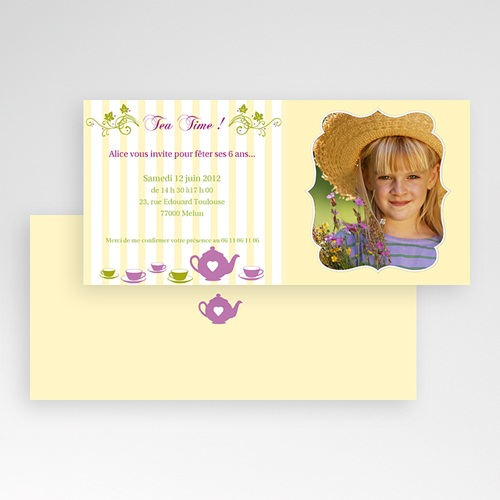Invitations Anniversaire Garçon - Brunch ou Tea Party 1635 preview