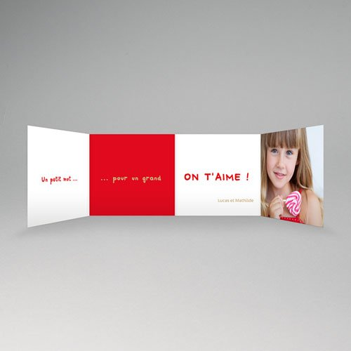 Cartes Multi-photos 3 & + - Trois portraits - Bordure rouge 16366 preview