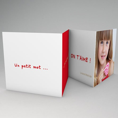 Cartes Multi-photos 3 & + - Trois portraits - Bordure rouge 16368 preview