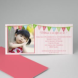 Carte invitation anniversaire fille - Décoration 1642