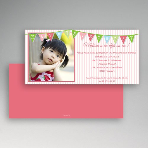 Invitations Anniversaire Fille - Décoration 1643 thumb